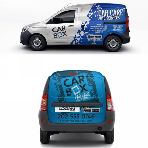 car box van wrap