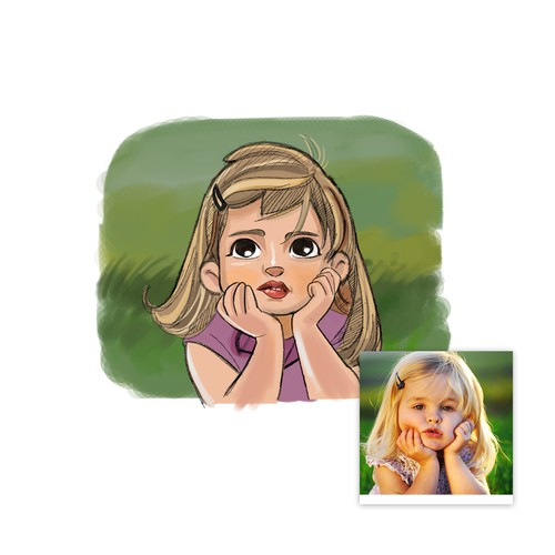 Cartoon Girl Caricature Design