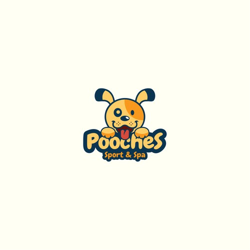Pooches playful pet logo