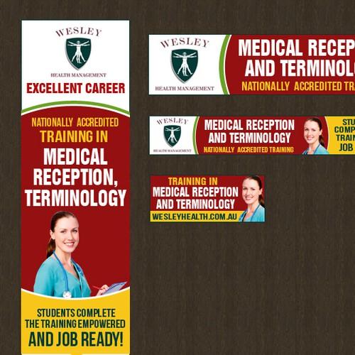 banner design for medical reception