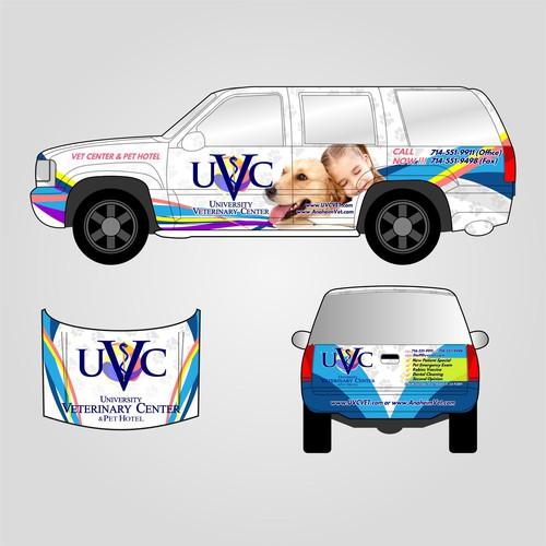 Animal Hospital Car Wrap Design
