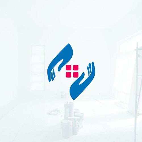 clean and modern home care logo
