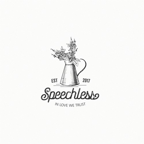 vintage logo for Speechless