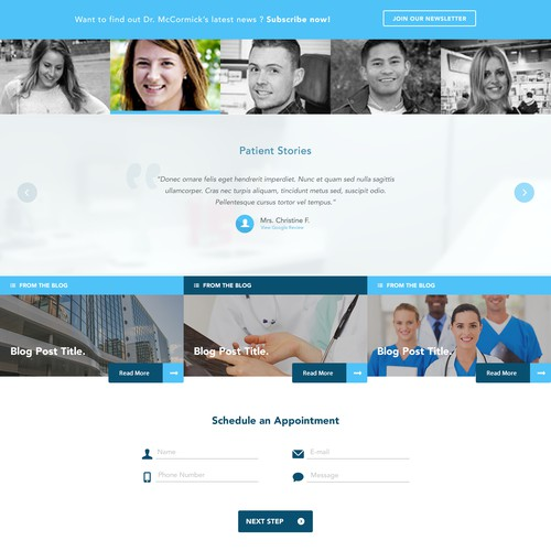 Orthopedic Surgeon for Sports Medicine & Clinic Care - Webdesign