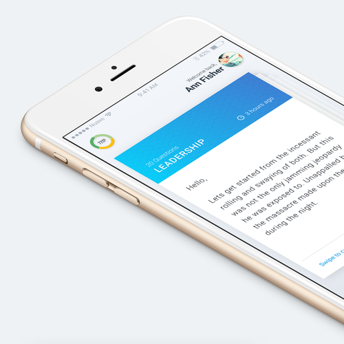 Design a home page for the 720 Talent Management app