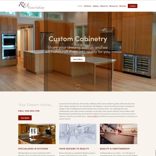 Website Design for Custom Cabinetry Business