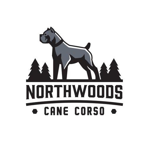 Logo concept for NorthWoods Cane Corso