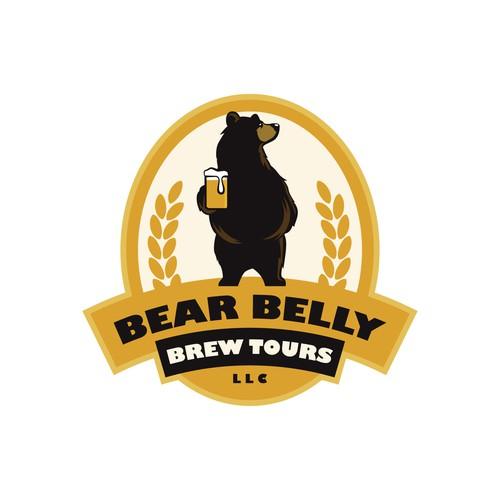 Bear logo for brew tour company