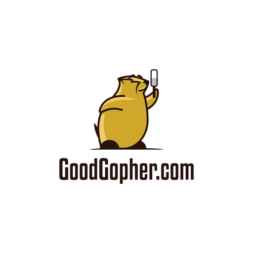 Create a friendly Gopher mascot for a breakthrough new search engine.