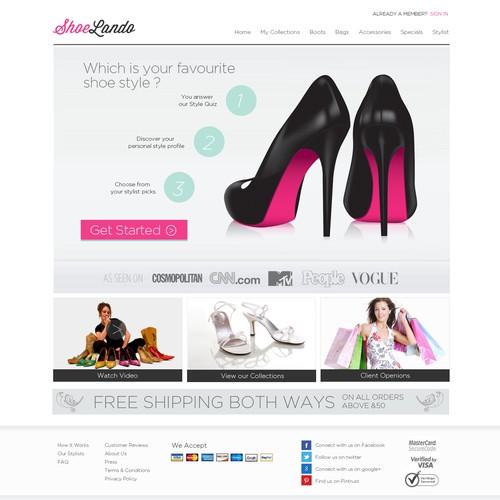 ShoeLando  needs a new website design