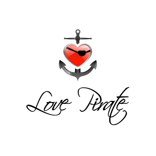Logo concept for Love Pirate.