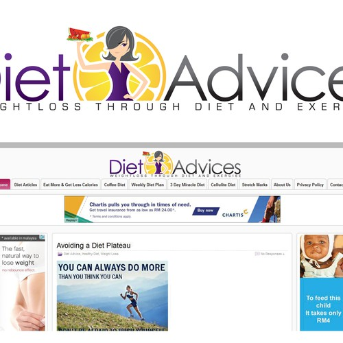 DietAdvices.Com needs your great talent for their new logo