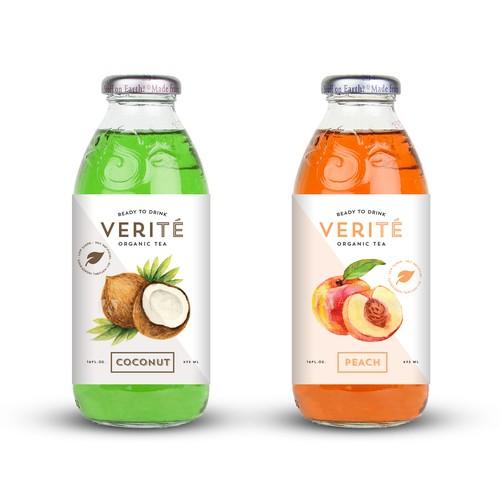 Organic Tea Label Design