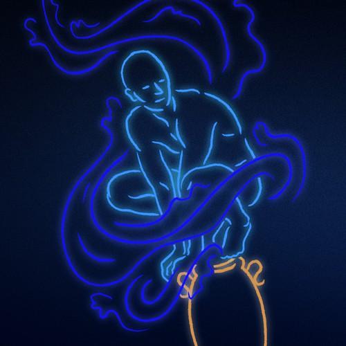 Illustrate Aquarius sign