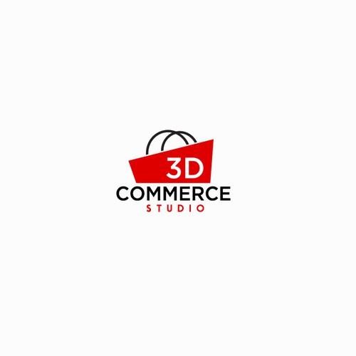 3D Commerce Studio logo design