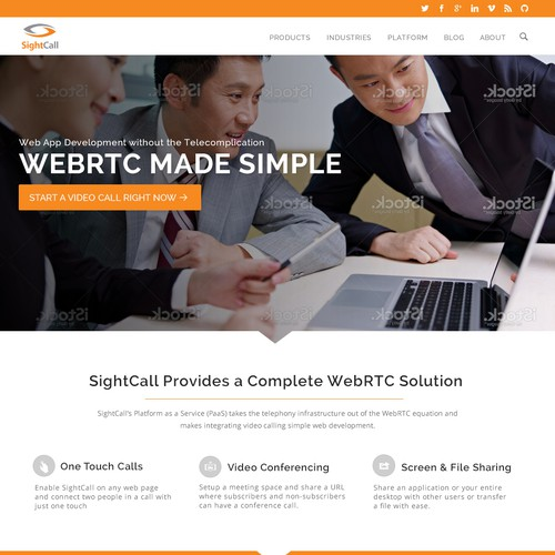Wordpress Theme Design For A Company Pioneering The Future Of Communication