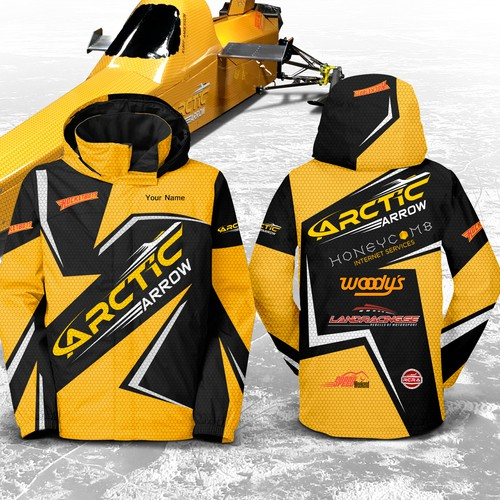 Team wear for World Record Speed event on ice - Arctic Arrow