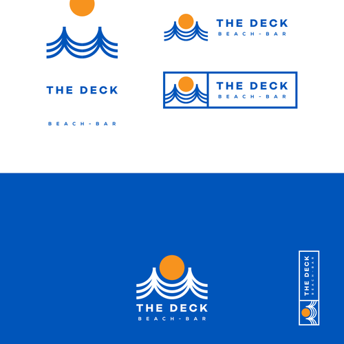 Logo and branding exploration for beach bar
