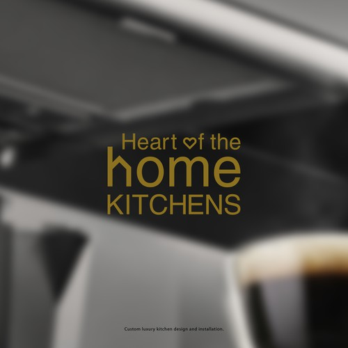 Logo concept for custom luxury kitchen design