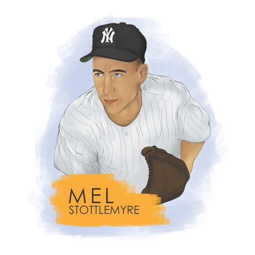 Rendering Baseball Card Portrait