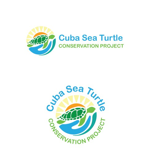 Sea Turtle & helping Hand inspired logo design