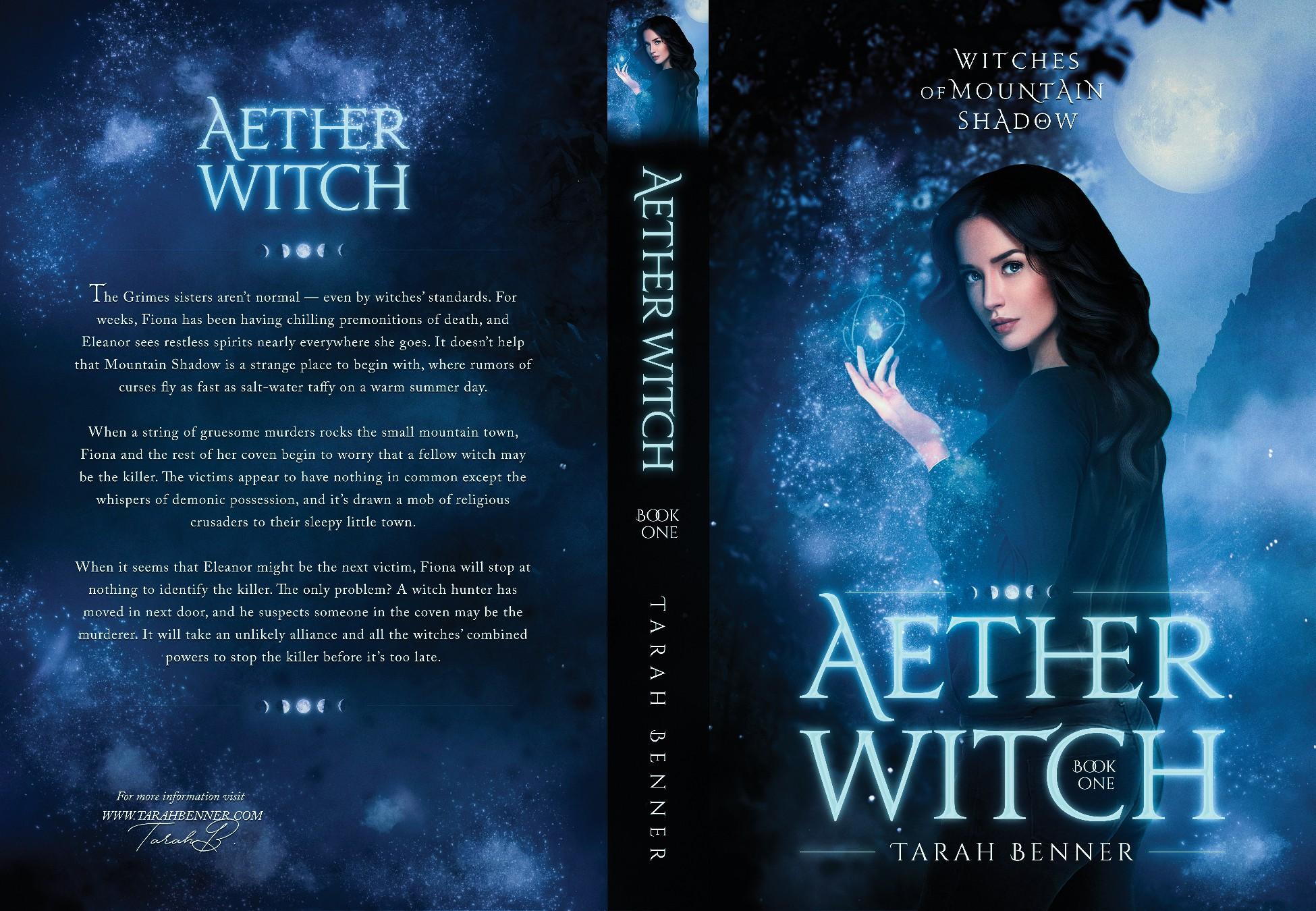 Dark Paranormal/Contemporary Fantasy Book Cover With Female Protagonist