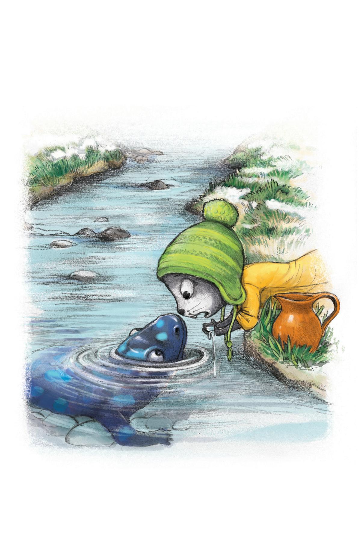 Shogg & Delon by the Creek