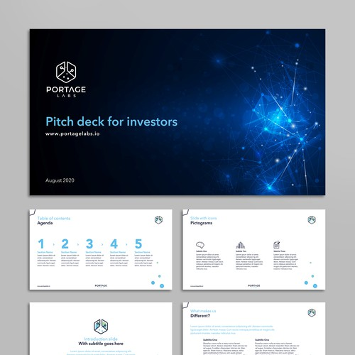 Sleek PowerPoint template for digital consultancy