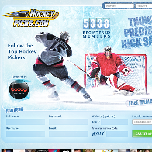 New website design wanted for Hockeypicks.com
