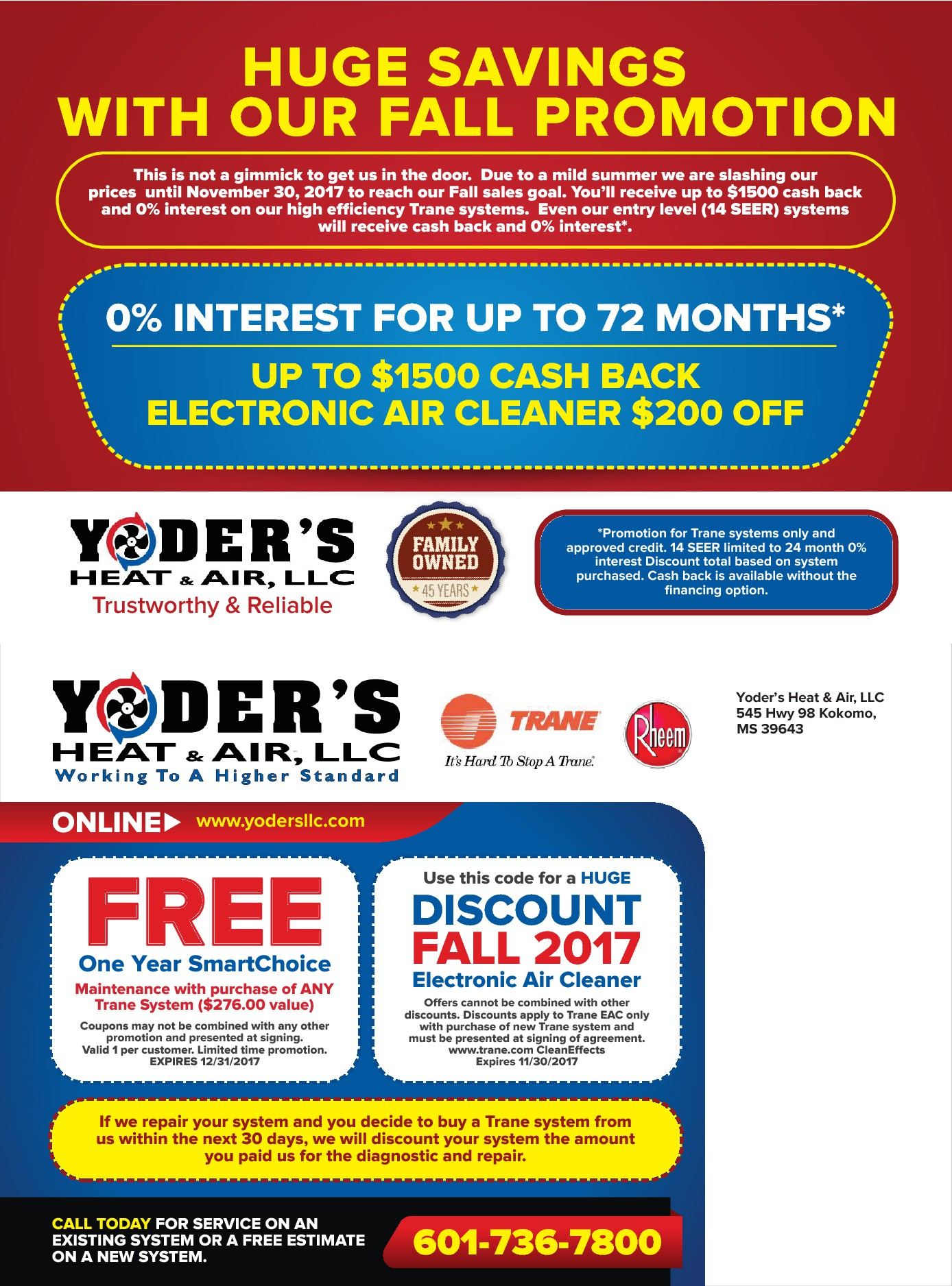 Yoder's Fall Promotion