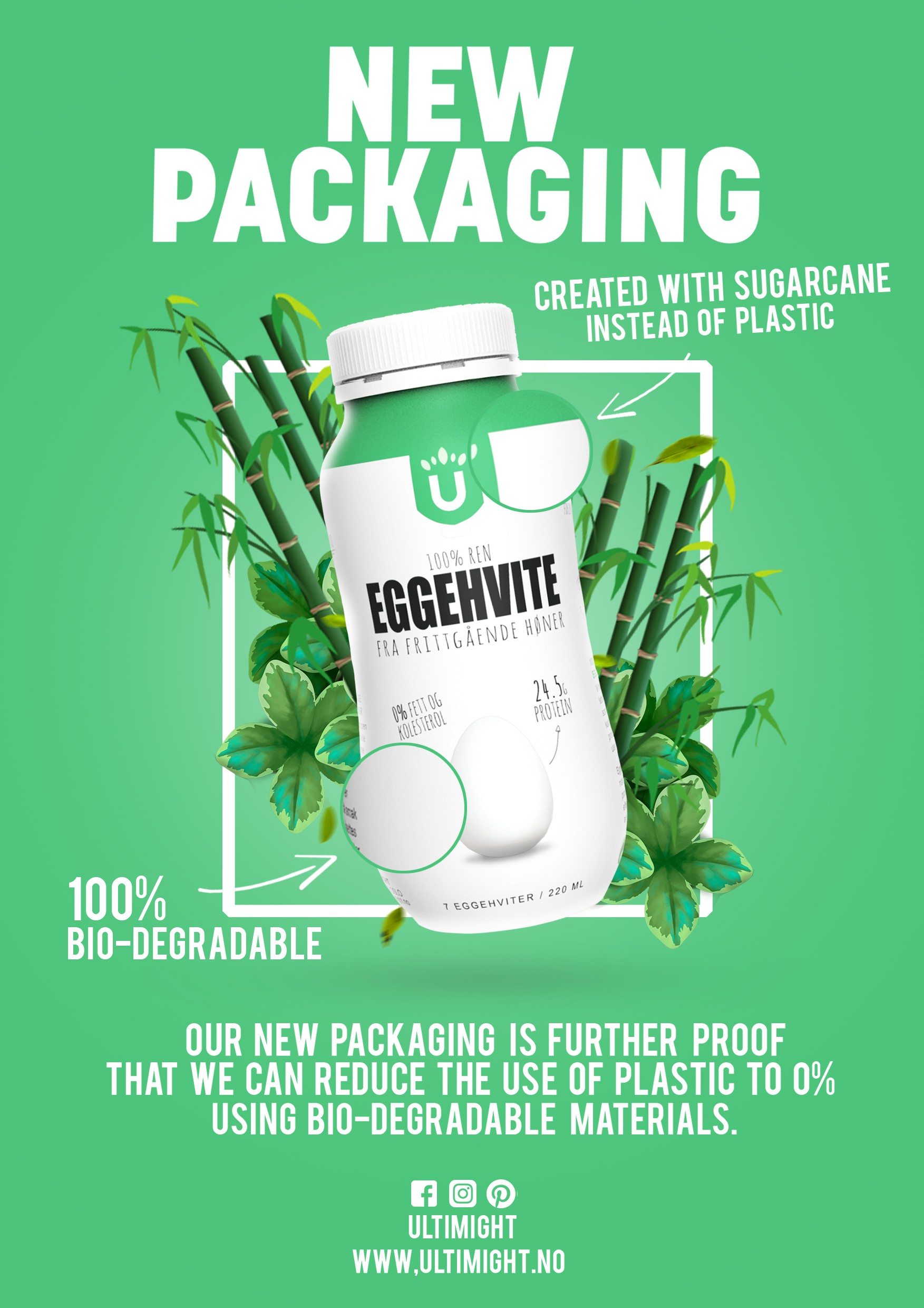 Design a flyer for our new packaging!