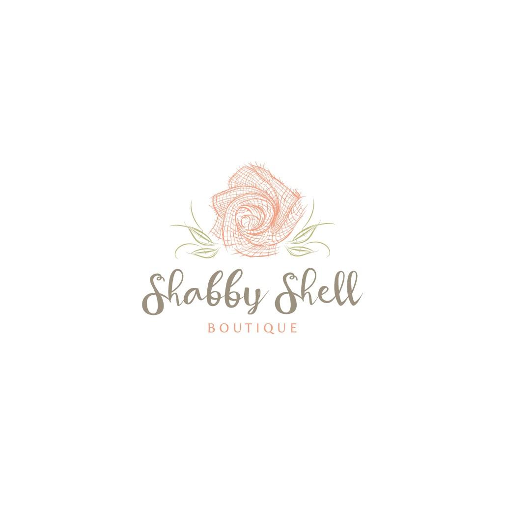 Create a simplistic, shabby-chic logo design for Shabby Shell Boutique!