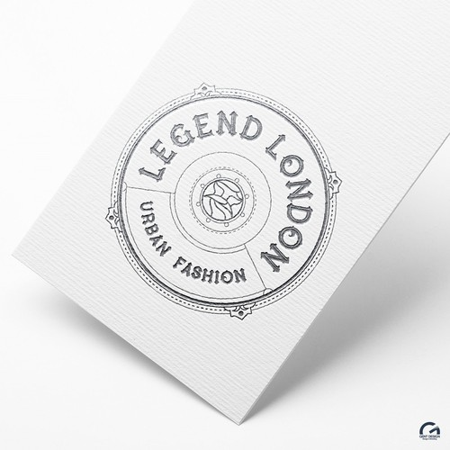 Classy, luxury urban fashion label logo