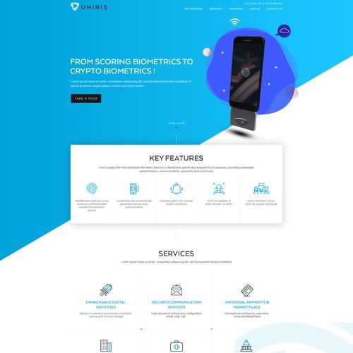 Uniris Blockchain Website Design
