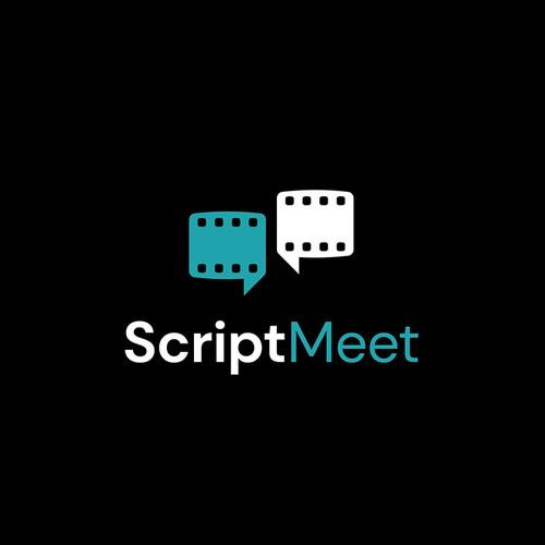 ScriptMeet logo design