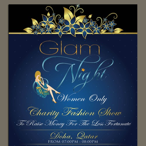 Make A Poster For Glam Night