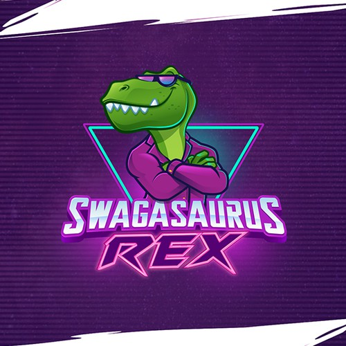Swagasaurus Logo & Mascot