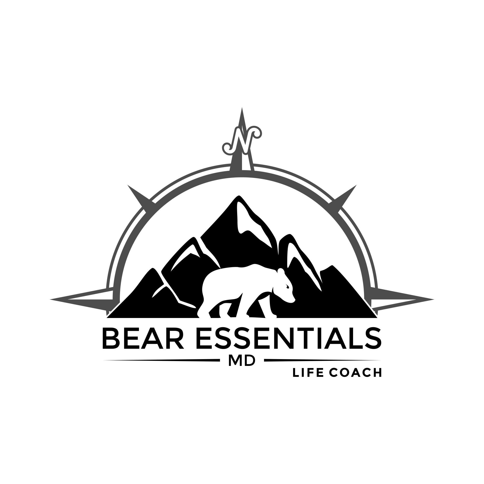Bearly happy with life?  Outdoors life coach needs some logo love.