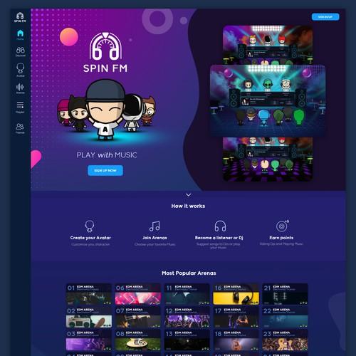 UI for a Music Based Social Network