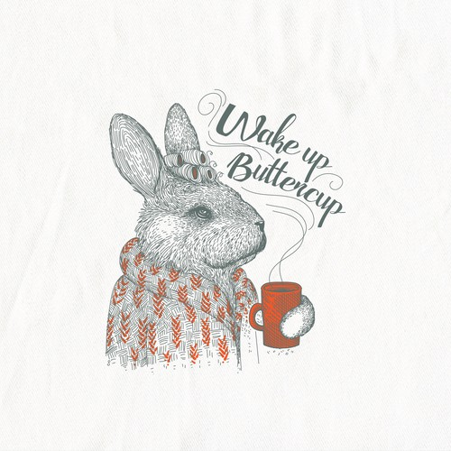Buttercup Bunny illustration for In 2 The Nest