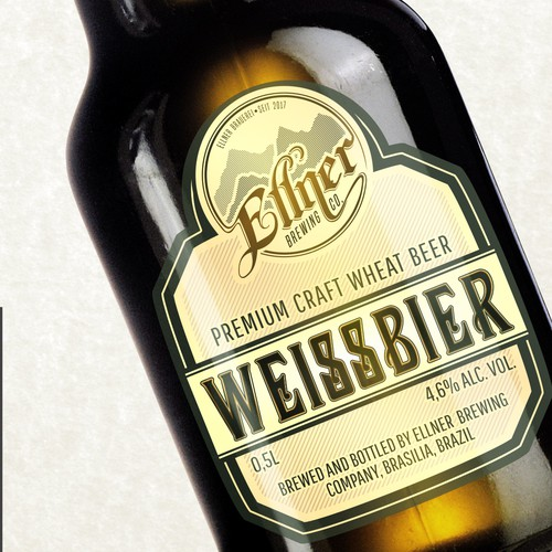 Ellner Brewing Company logo & label