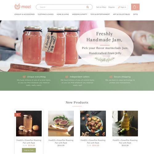 Food marketplace design
