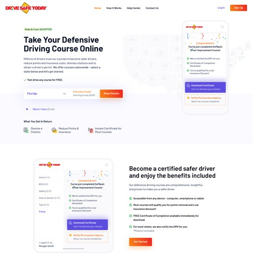 DriveSafeToday Driving Courses Website Design