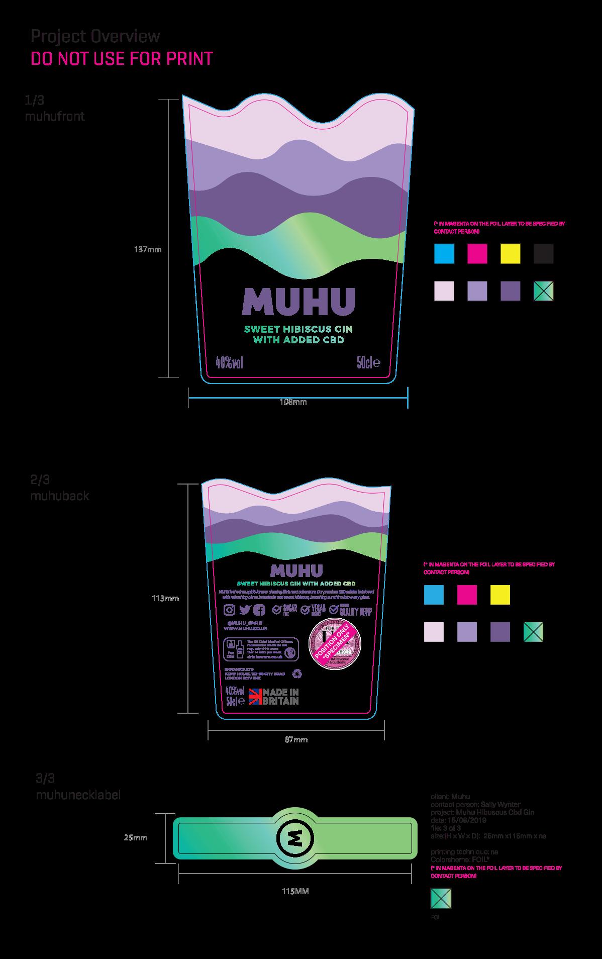 Label Design - Spirits Bottle