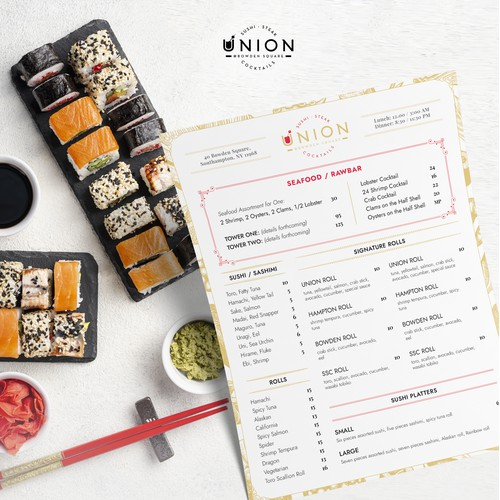 Union Steak & Sushi Dinner Menu