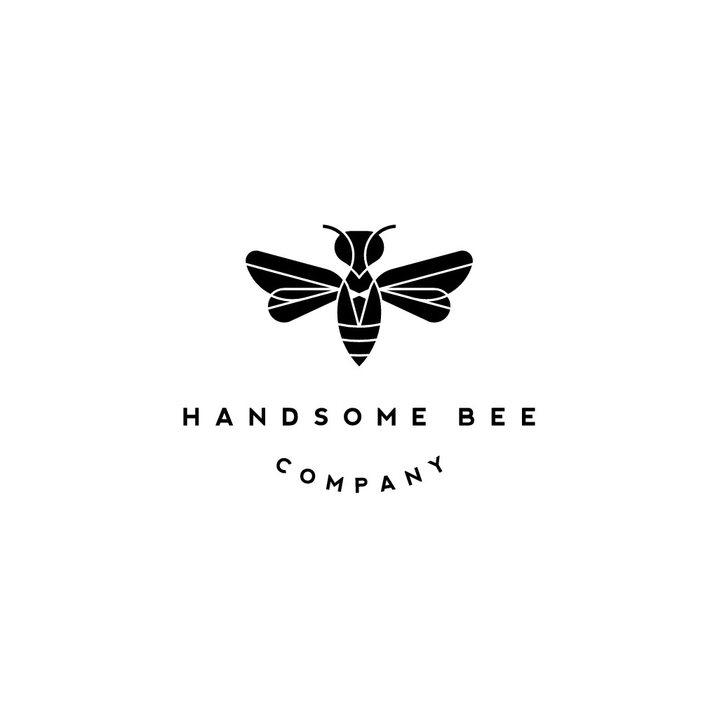 Design a logo for a men's grooming brand that wants to save the bees