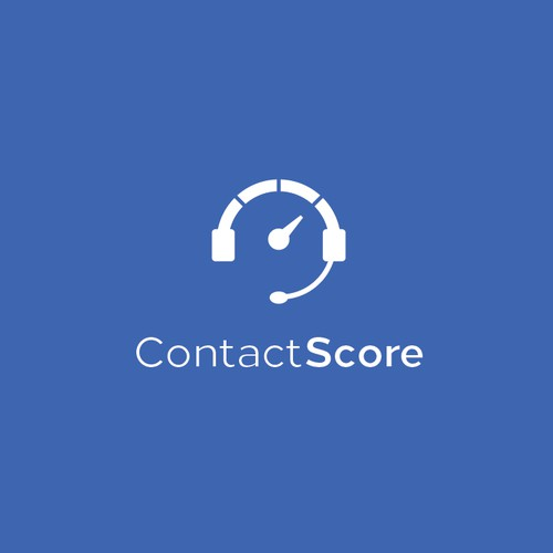 Clean minimalist and unique logo for ContactScore