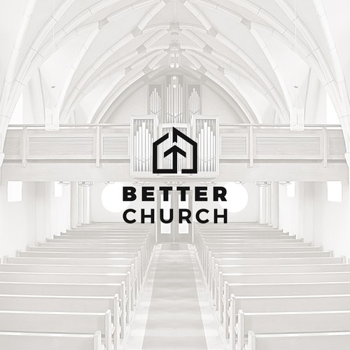 Simple and modern logo for BETTER CHURCH.