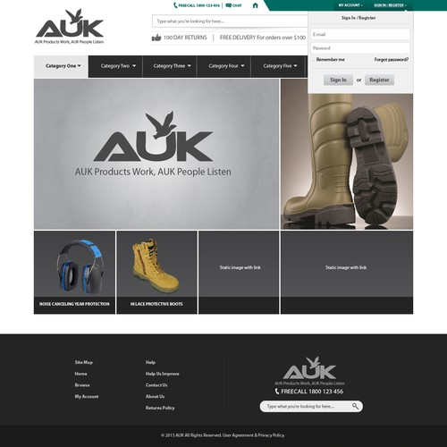 clean, industrial, professional web design!