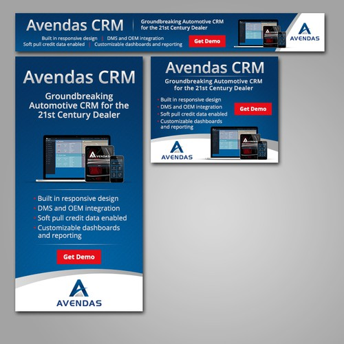Simple corporate banner ads